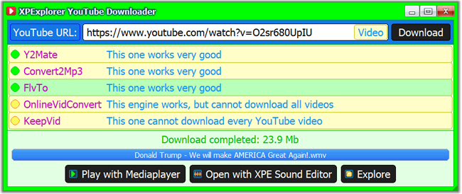 YouTube Downloader update completed  (2019)